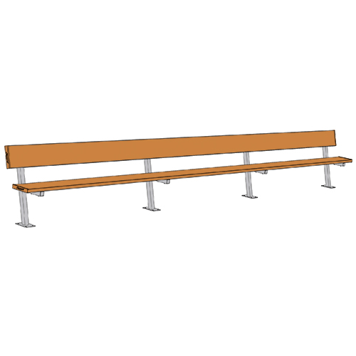 Swell 21 Player Bench W Seat Back Surface Mount Powder Coated Gmtry Best Dining Table And Chair Ideas Images Gmtryco