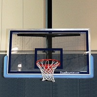 "Patented Perforated Polycarbonate Backboard (72""x 48"")"