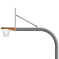 "5-9/16"" Gooseneck Post (w/ Perf Alum. Board - Double Rim)"