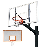 Titan™ (Black Powder Coated Post w/ Perforated Steel Backboard)