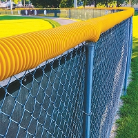 Poly-Cap Fence Top Protection (100' Yellow)