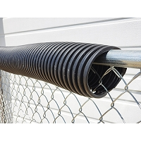 Poly-Cap Fence Top Protection (100' Black)