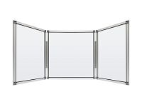 Clarity Shield - Table top - 3 panel divider