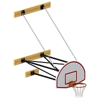 3-Point Fan Board Wall Mount Shooting Station (2'-3-1/2' Ext)
