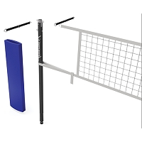 Ladypro Carbon™ Volleyball Net Center Upright System (3-1/2