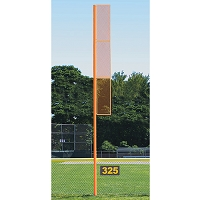 Professional Foul Pole (40 ' Softball - Surface Mount - Orange)