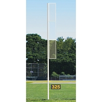 Professional Foul Pole (20' Softball - Semi/Perm - White)