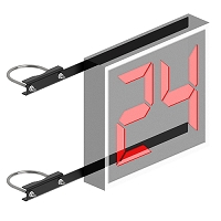 Shot Clock Mounting Bracket (only) (6-5/8