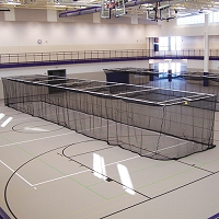 Ceiling Suspended Retractable Batting Cages (Baseball - 1-3/4