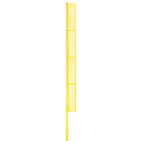 Professional Foul Pole (40' Baseball - Surface Mount - Yellow)
