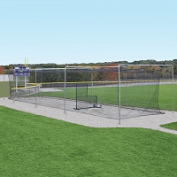Semi-Permanent Outdoor Batting Tunnel Frame (70')