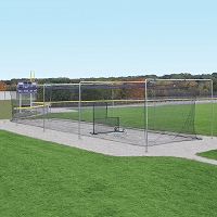 Surface-Mounted Outdoor Batting Tunnel Frame (55')