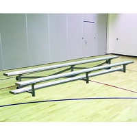 Tip & Roll Bleachers (7-1/2' Single Foot Plank - 2 Row)