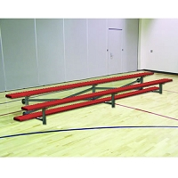 Tip & Roll Bleachers (7-1/2' Single Foot Plank - 2 Row - Powder Coated)