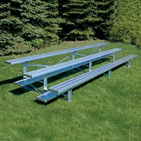 All Aluminum Bleachers (21' Single Foot Plank - 3 Row)