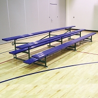 Tip & Roll Bleachers (21' Single Foot Plank - 3 Row - Powder Coated)
