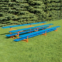 Standard Outdoor  Bleacher (15' - 3 Row - Powder Coated)