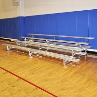 Tip & Roll Bleachers (7-1/2' Single Foot Plank - 4 Row)