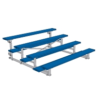 Tip & Roll Bleachers (7-1/2' Single Foot Plank - 4 Row - Powder Coated)