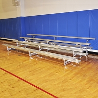 Tip & Roll Bleachers (15' Single Foot Plank - 4 Row)