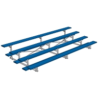 Tip & Roll Bleachers (15' Single Foot Plank - 4 Row - Powder Coated)