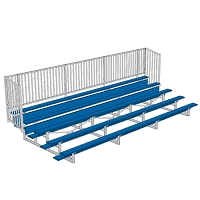 Enclosed Bleacher (5 Row - 21' w/ Guard Rail - Powder Coated)