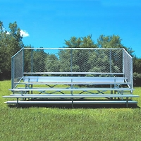 Enclosed Bleacher (5 Row - 15' - w/ Chain Link)