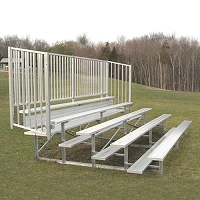 Enclosed Bleacher (5 Row - 15' w/ Guard Rail)