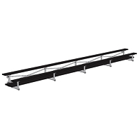 Tip & Roll Bleacher (27' Double Foot Plank - 2 Row - Powder Coated)