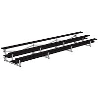 Tip & Roll Bleachers (21' Double Foot Plank - 3 Row - Powder Coated)
