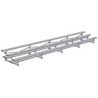 Tip & Roll Bleachers (27' Double Foot Plank - 3 Row)