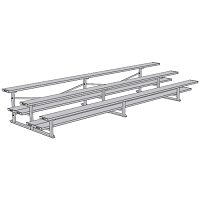 All Aluminum Bleachers (15' Double Foot Plank - 3 Row)