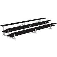 All Aluminum Bleachers (15' Double Foot Plank - 3 Row - Powder Coated)