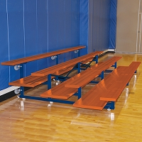 Tip & Roll Bleachers (15' Double Foot Plank - 4 Row - Powder Coated)