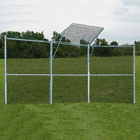 Permanent Baseball/Softball Backstop (3 Panels, 1 Center Overhang)