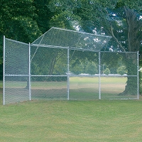 Permanent Baseball/Softball Backstop (4 Panel, 2 Center Overhangs)