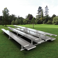 Back-to-Back Bleachers (7-1/2' Double Foot Plank -3 Row)