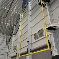 Stationary Ceiling Suspended Football Goal Post (30' Uprights)