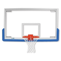"Unbreakable Rectangular Glass Backboard (72""x 42"")"
