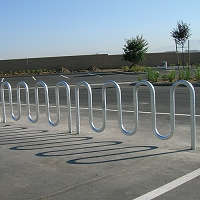 Wave Bicycle Rack (7 Capacity - Below Grade Mount - Galvanized)
