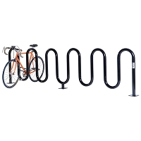 Wave Bicycle Rack (9 Capacity - Below Grade Mount - Powder Coated)