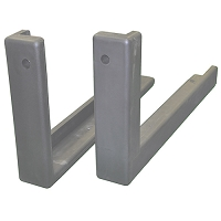 "1-1/2"" Bolt-On Edge Padding (72"" - Gray)"