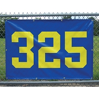 "Outfield Distance Marker (38""x 56"" w/ 24"" Numbers)"