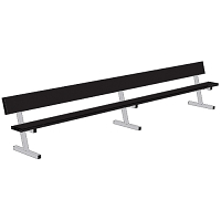 Player Bench (15' w/ Seat Back - Portable Model - Powder Coated)