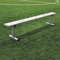 Player Bench (7-1/2' w/o Seat Back - In-Ground Installation)