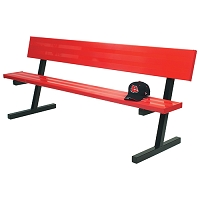 Player Bench (7-1/2' w/Seat Back - Portable Model - Powder Coated)