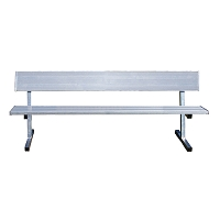 Player Bench  (7-1/2' w/ Seat Back - Surface Mount Installation)