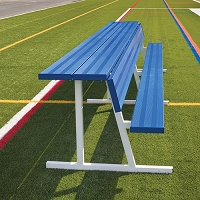 Player Bench with Shelf (15' - Powder Coated)