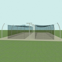 Professional Tandem Outdoor Batting Tunnel Frame (55')