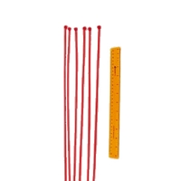 Safefoam Tubular Padding Ties (Set of 100 - Red)